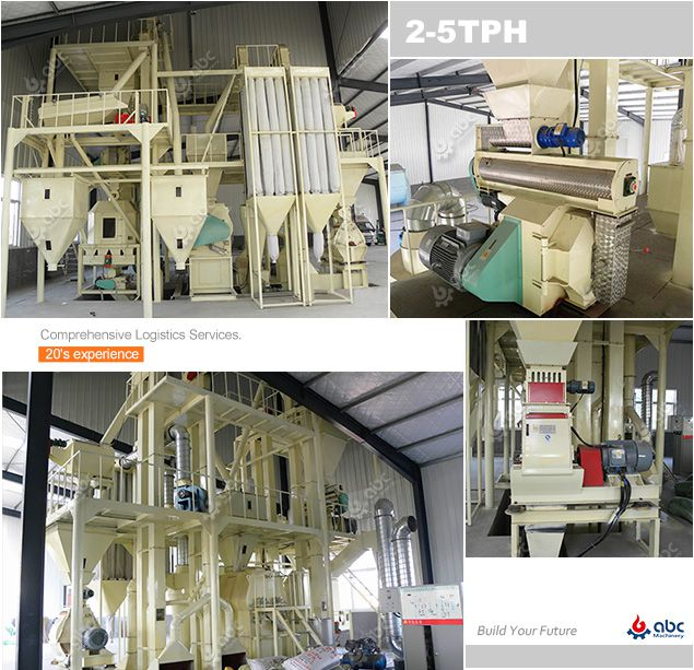 2-5 ton per hour poultry feed pellet plant project plan - turnkey solution