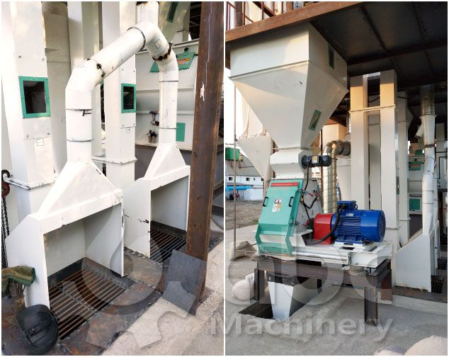 Fodder inlet and feed crushing machine