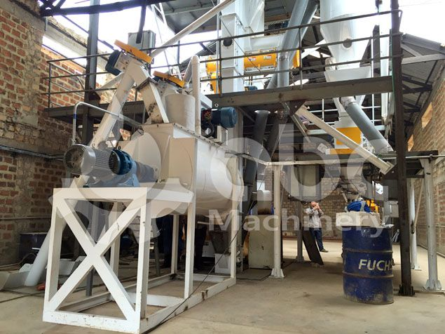 animal feed pellet production machine included in the plant