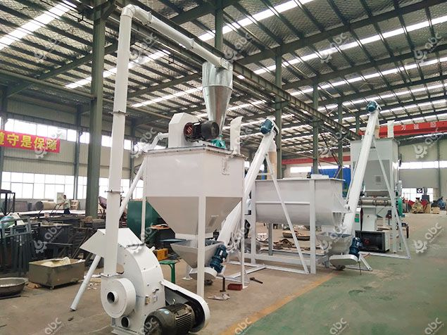 low cost animal feed pellets processing line for medium scale production