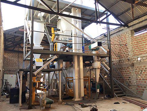 1TPH Animal Feed Pellet Production Line in Uganda