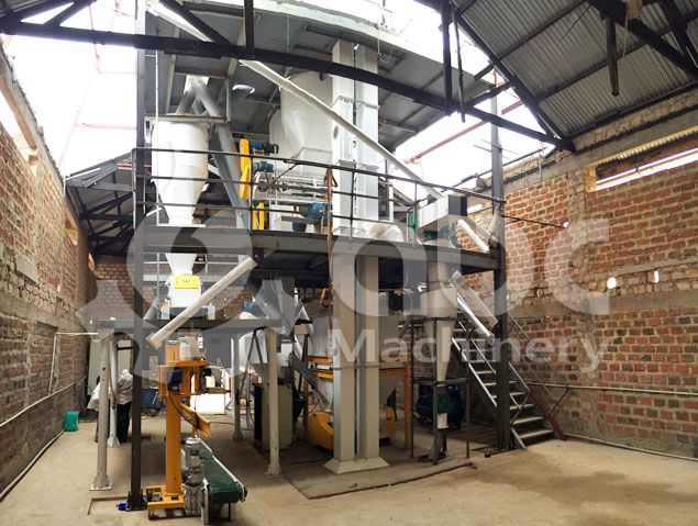 animal feed pellets production line details