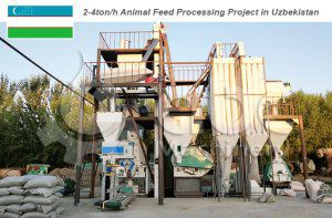 4ton/h Animal Feed Processing Equipment Uzbekistan