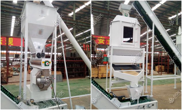 complete animal feed processing machine for industrial fodder production