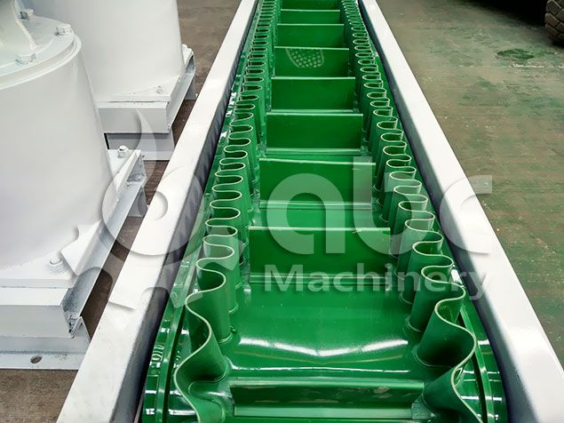 belt conveyor details of the cattle feed manfuacturing plant