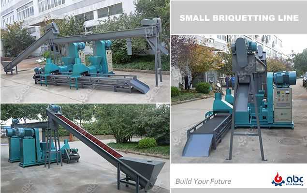 biomass charcoal briquetting unit for small production line
