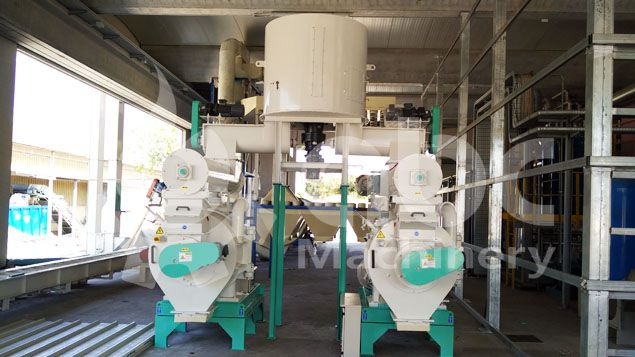 biomass pellet mill equipment for hard wood sawdust