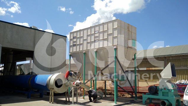 drying equipment of the industrial biomass pellet production