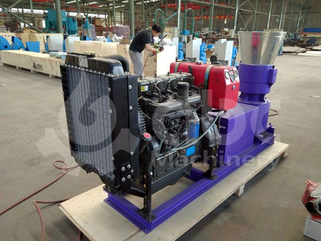 biomass pelletizer for processing hardwood