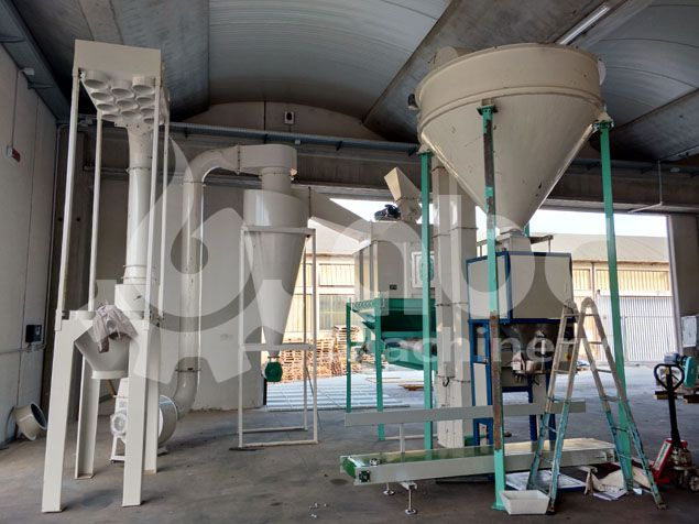 biomass pellets cooling and packing machine