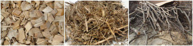 biomass raw materials for making fuel pellets