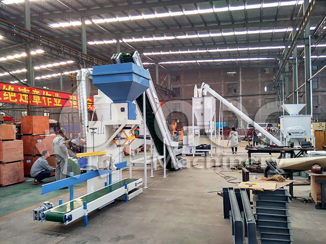 cheap cattle feed production machine set for sale at factory price