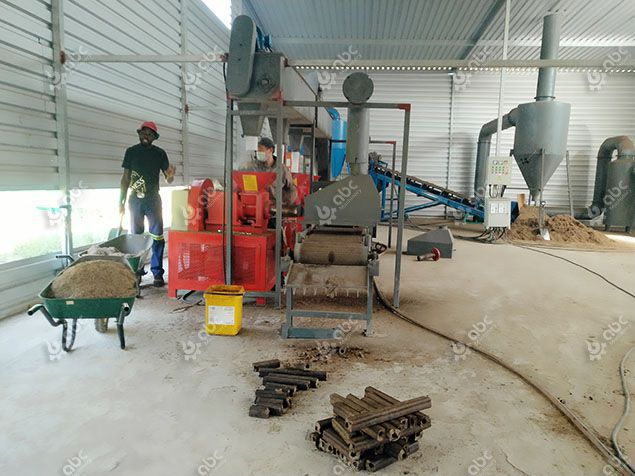 Sugarcane Bagasse Briquette Manufacturing Plant in South