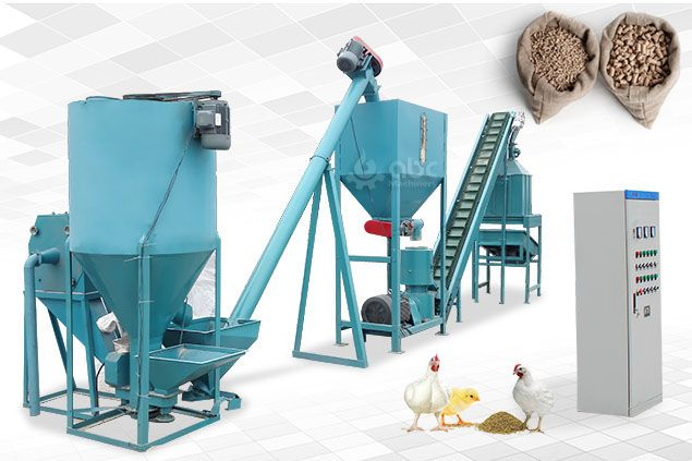 chicken feed manufacturing plant equipment