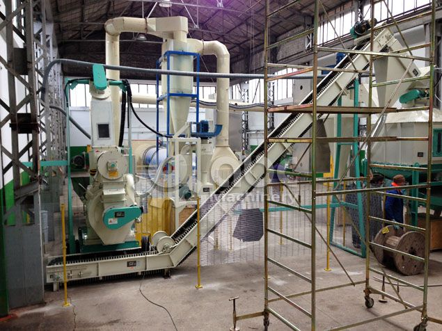 complete wood pellet production line with low investment