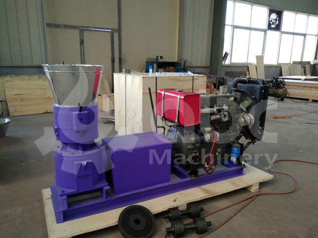 diesel biomass pelletizer manufactured for making oak pellets