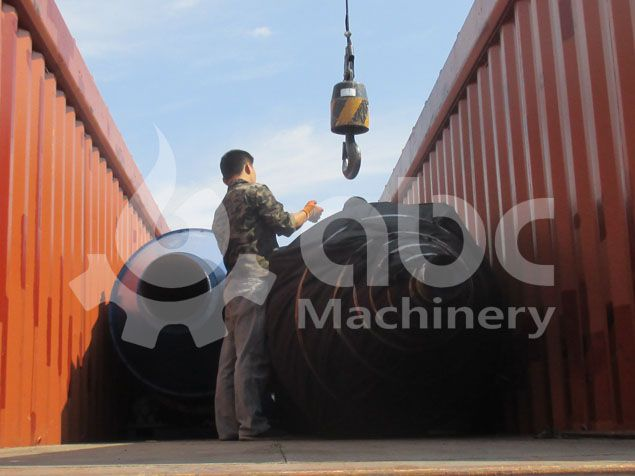 dryer for the biofuel briquette plant