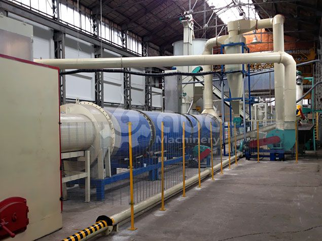 drying process of the wood pellet production project