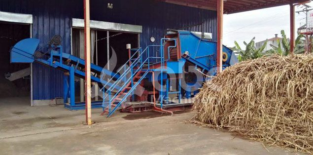 elephant grass chopper machine included in the production plant