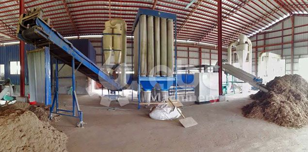 drying process of the elephant grass pelletizing line