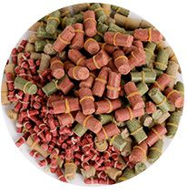 produced fish feed pellets