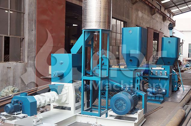 floating fish feed pellet machine for small and middle sized feed mill