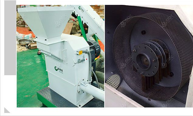 hammer mill included in the movable pellets manufacturing unit
