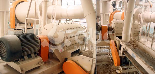 hammer mill for wood crushing