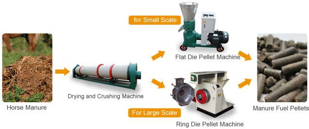 horse manure pellets making process