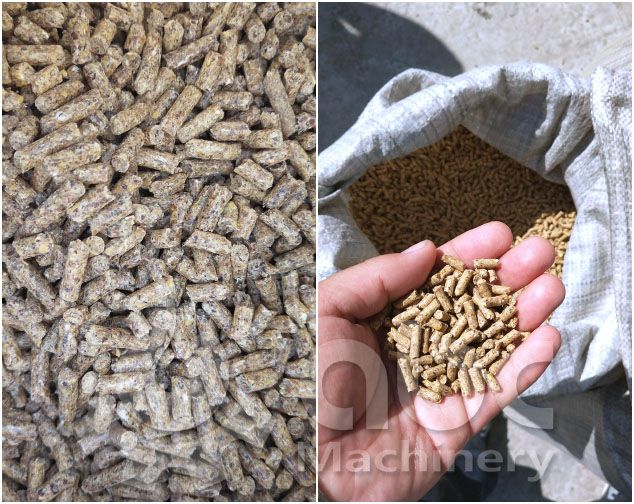 Make feed pellets for chicken, sheep, cattle, etc