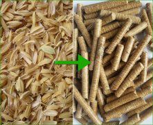 how to make wood from rice husk