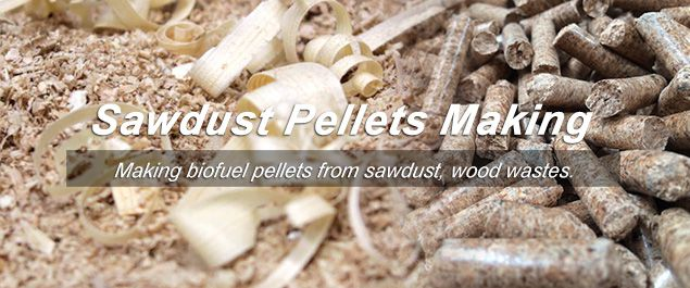 making sawdust pellets