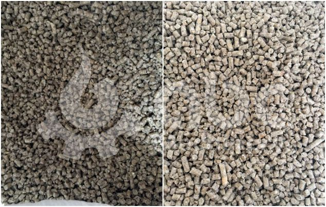 manufactured animal feed pellets