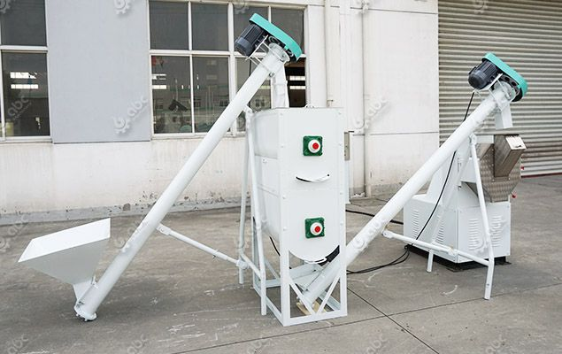 mini feed plant for manufacturing poultry feed pellets in small scale