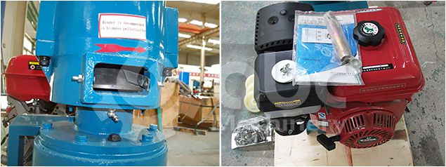 details of the petrol engine small pellet mill for sale from GEMCO factory