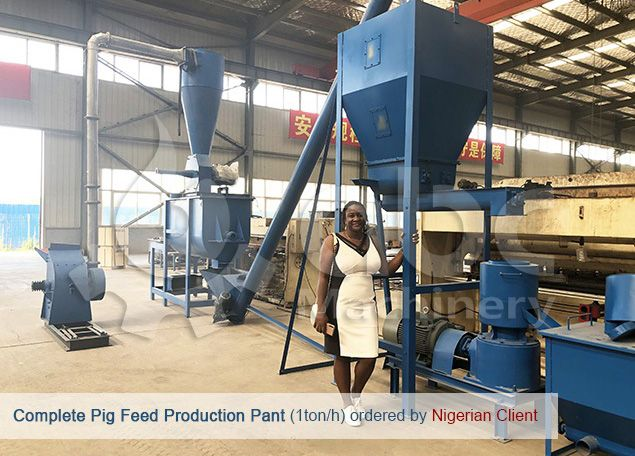 low cost pig feed mill plant