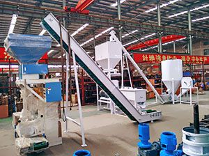 1 ton/h Poultry Feed Pellet Production Line