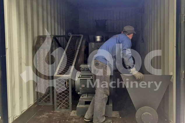 rice hull briquette machine in container