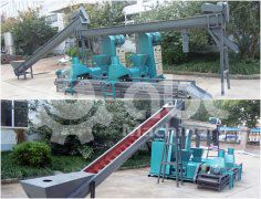 Sawdust Briquette Making Machine Unit Exported to Sri Lanka