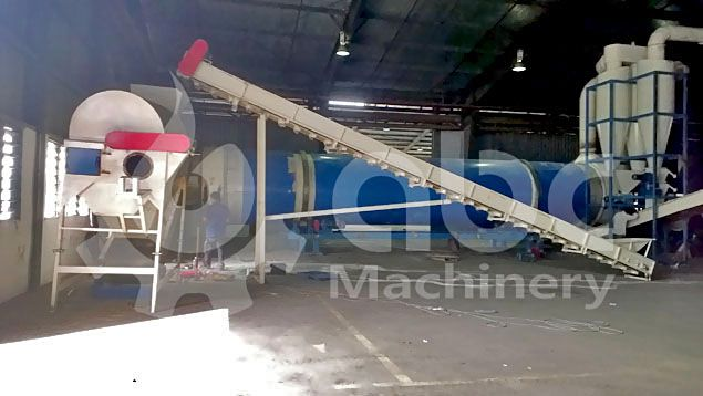 sawdust cleaning and drying machine in the plant
