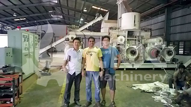 sawdust pellet machine line clients and project manager