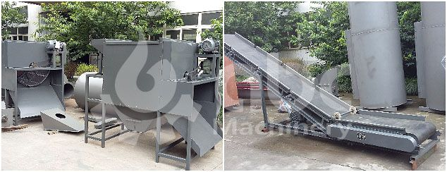 screening and conveying machine for sawdust briquetting project