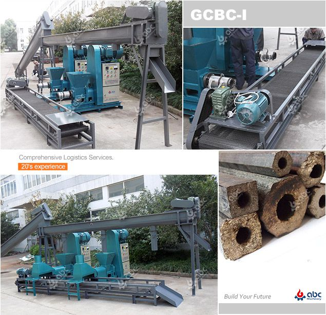 screw type wood briquetting plant for medium scale processing factory