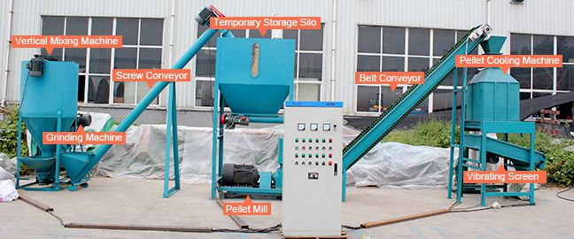 Small Animal Feed Making Mill Plant