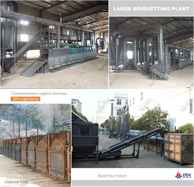 complete production line for manufacturing biomass briquettes