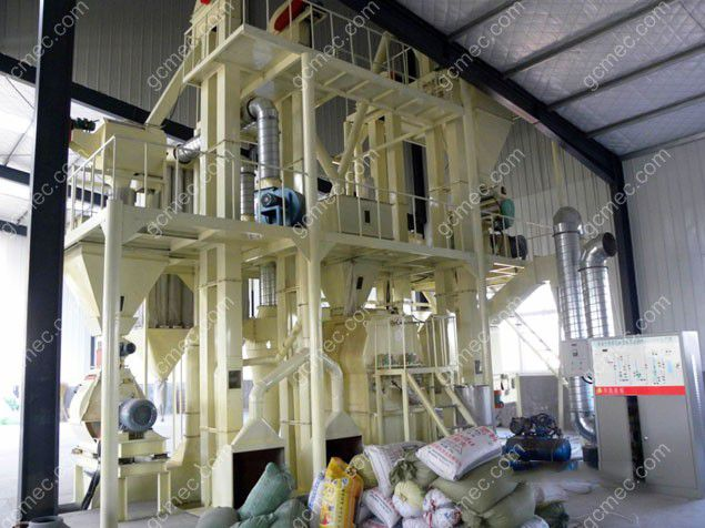 small animal feed pelletizing plant for producing premium fodder pellets