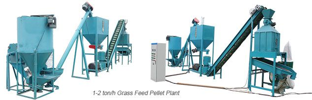 small forage grass feed pellet plant