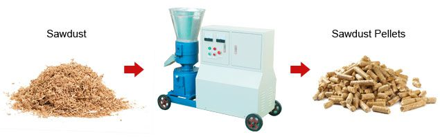 small sawdust pellet machine