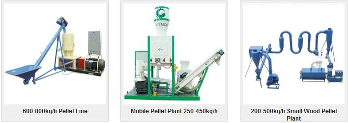small scale biomass pellet line