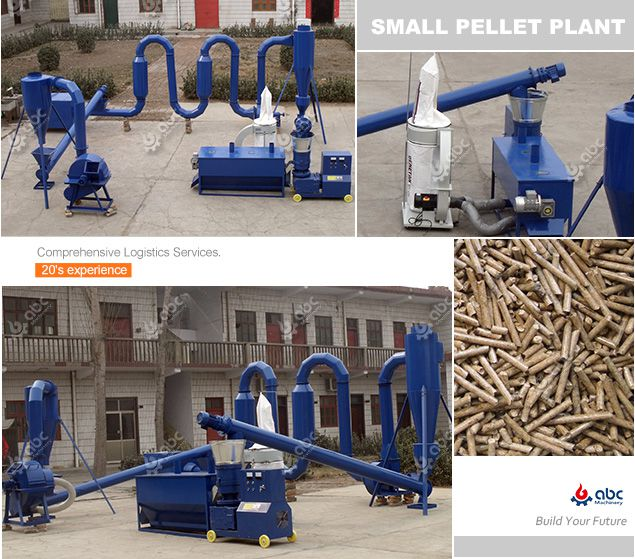 cheap small wood pellet plant equipment layout